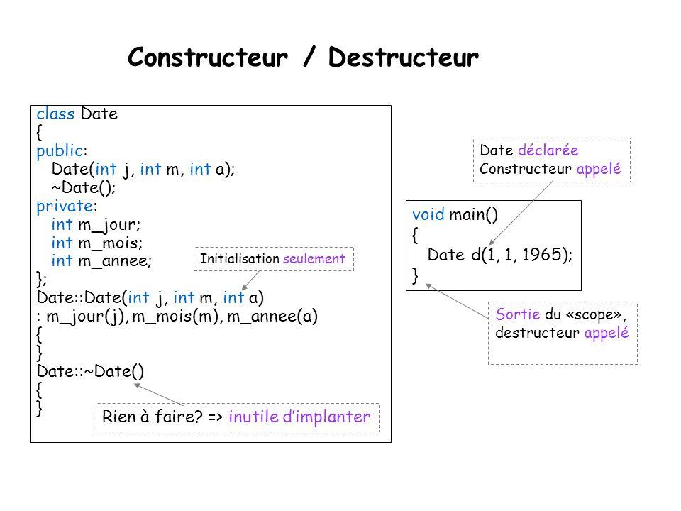 Constructeur / Destructeur