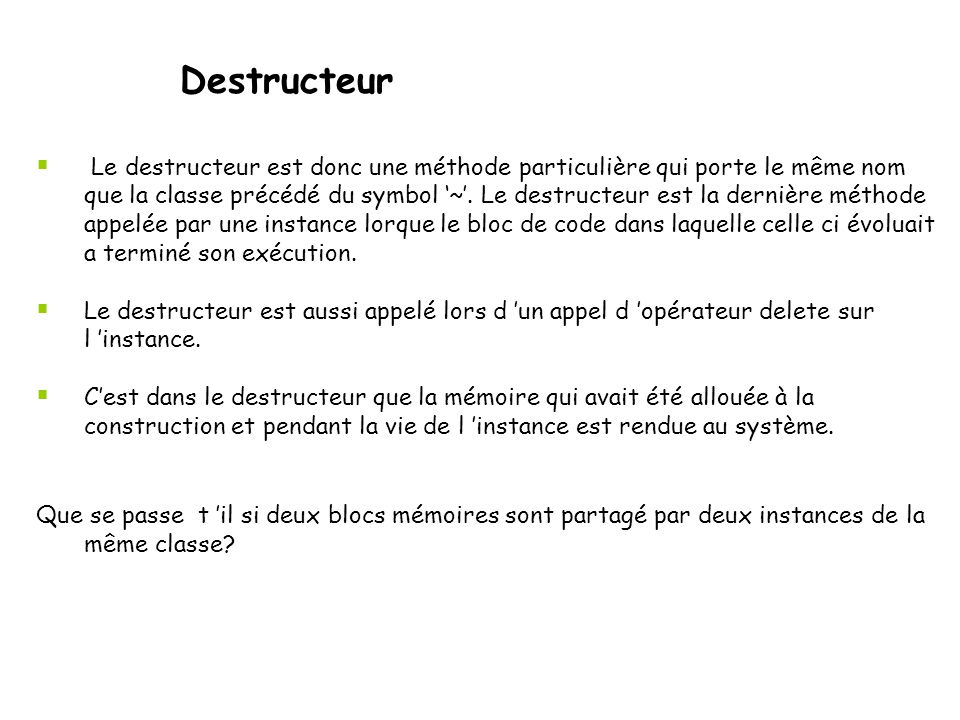 Destructeur