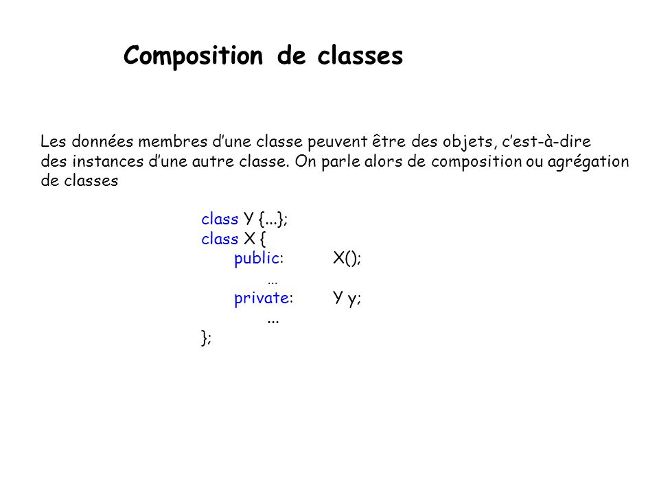 Composition de classes