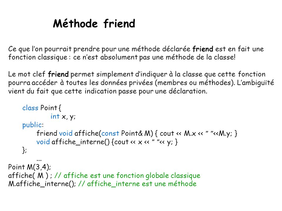 Méthode friend