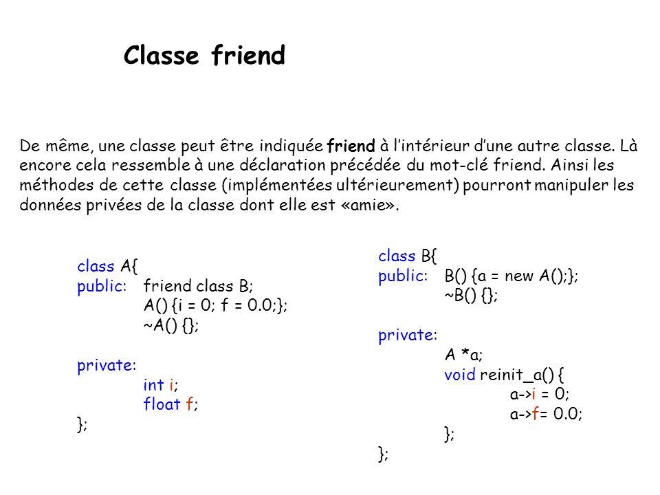 Classe friend