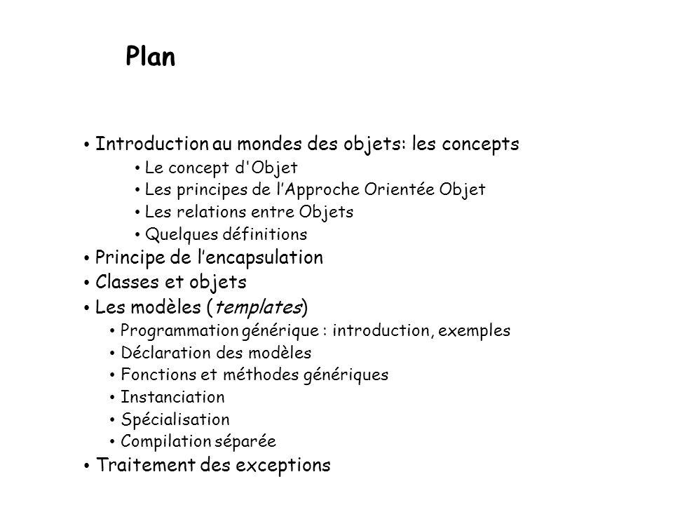 Plan Introduction au mondes des objets: les concepts