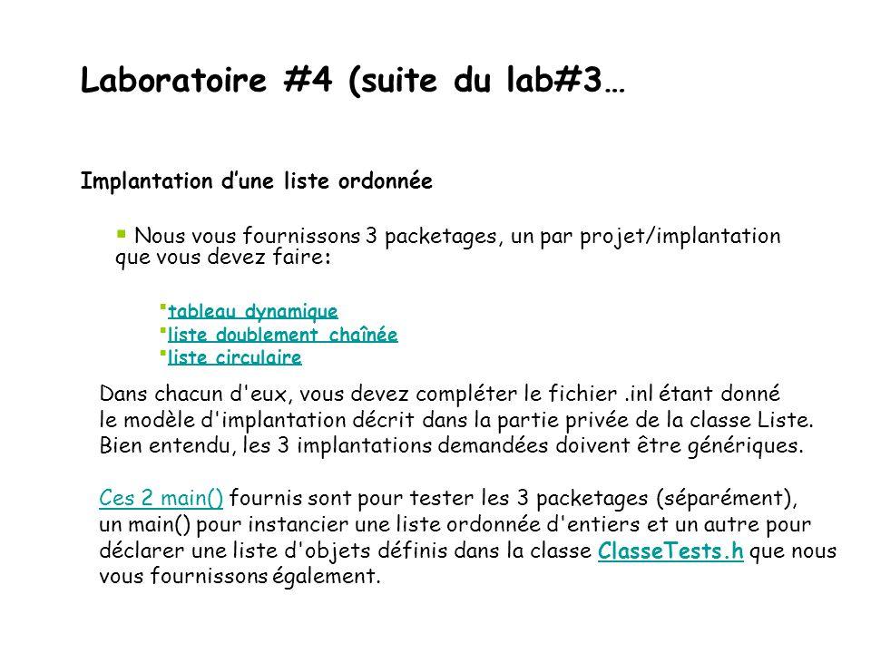 Laboratoire #4 (suite du lab#3…