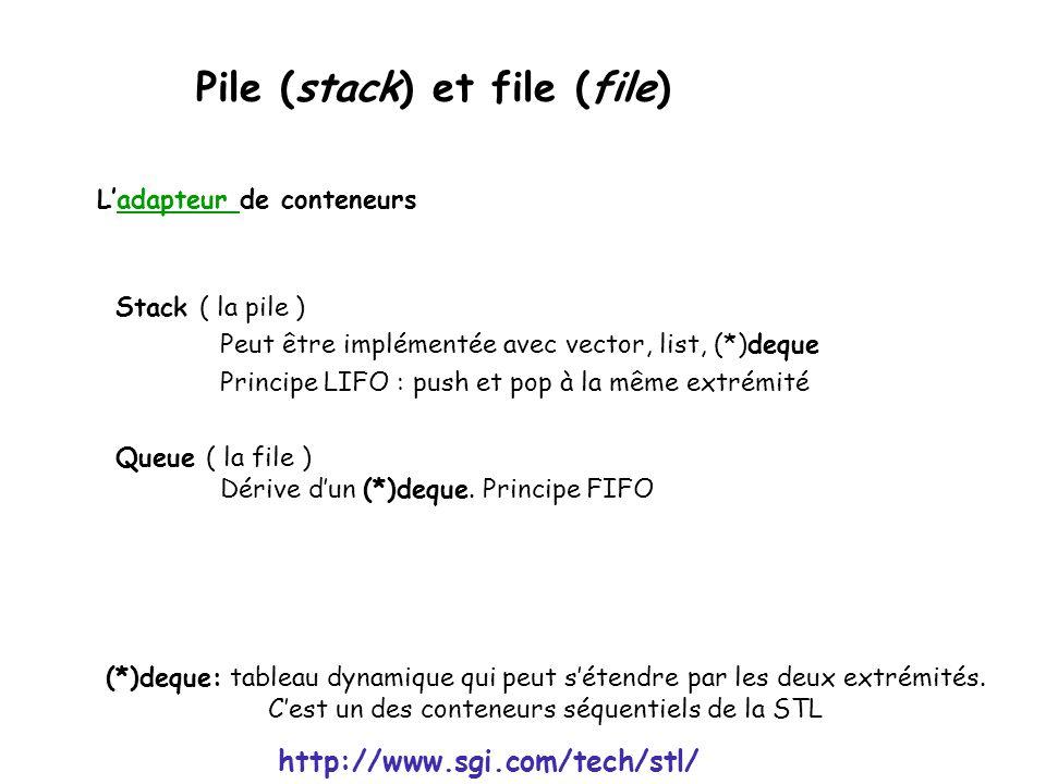 Pile (stack) et file (file)