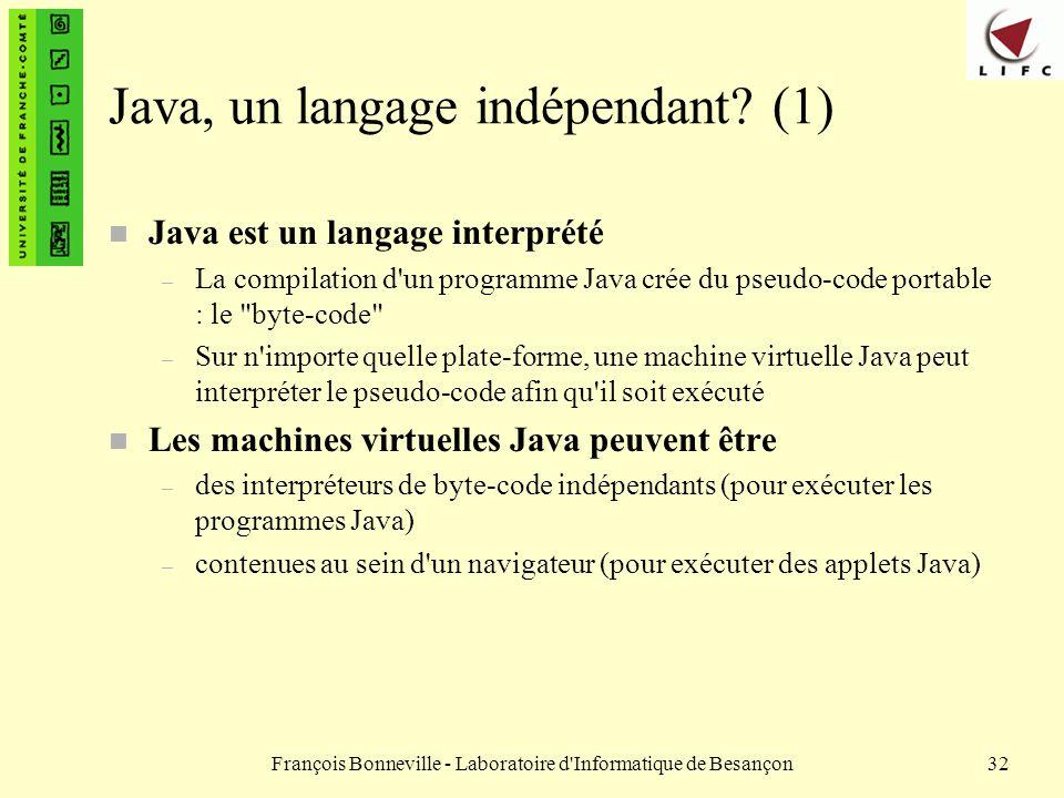 Java, un langage indépendant (1)