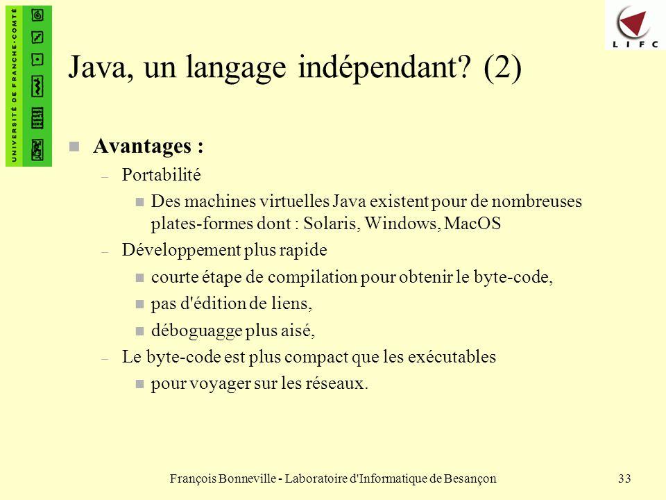 Java, un langage indépendant (2)