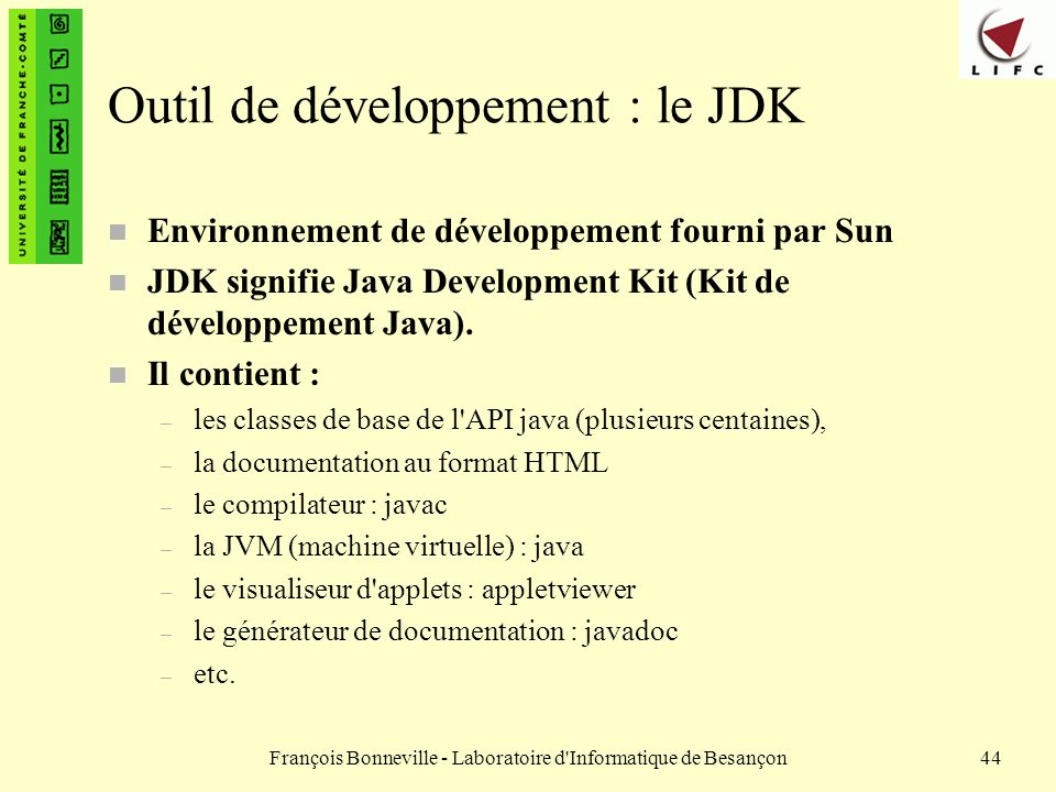 Outil de développement : le JDK