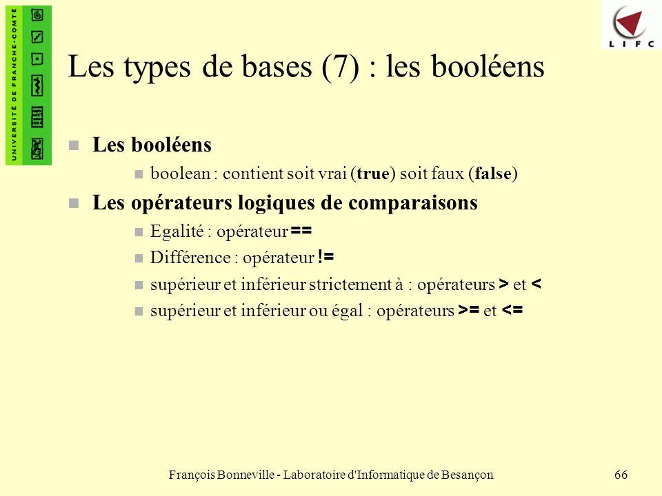 Les types de bases (7) : les booléens