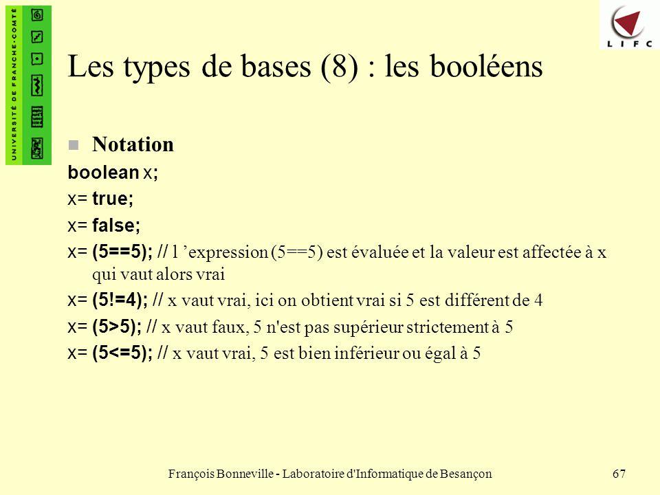 Les types de bases (8) : les booléens