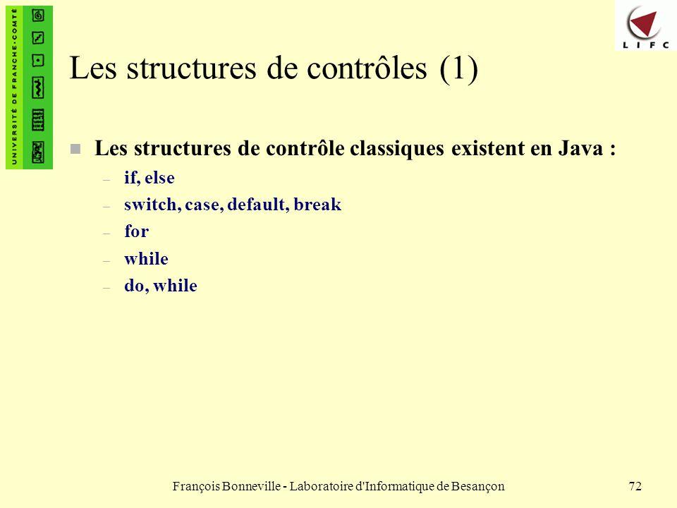 Les structures de contrôles (1)