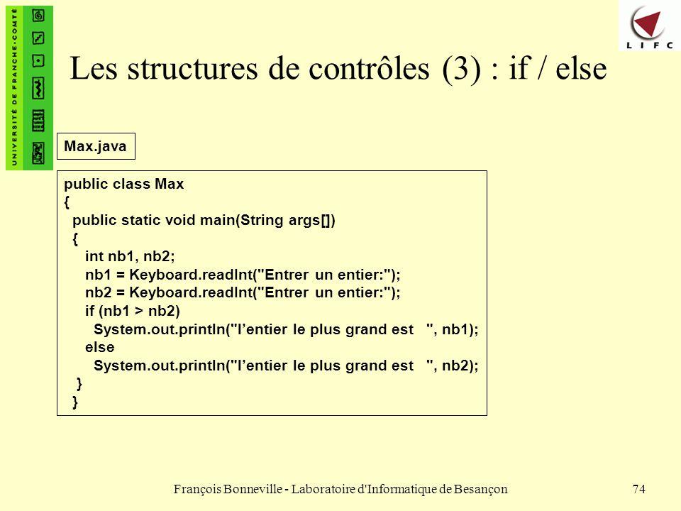 Les structures de contrôles (3) : if / else