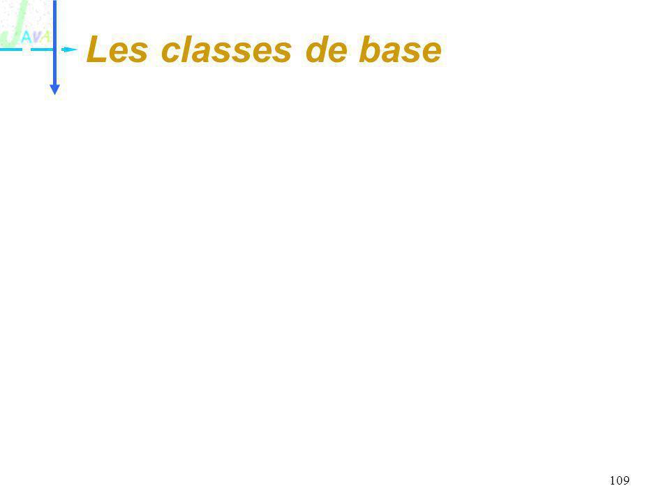 Les classes de base
