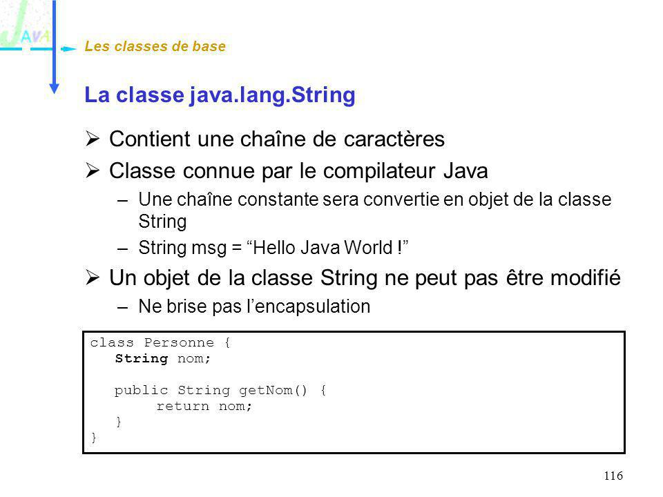 La classe java.lang.String