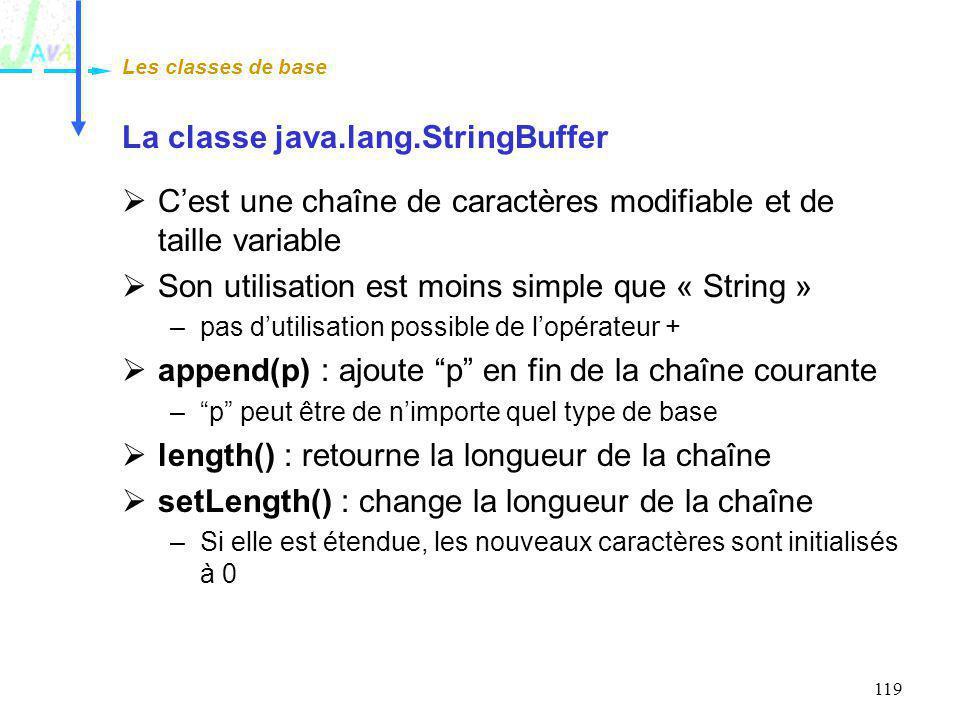 La classe java.lang.StringBuffer