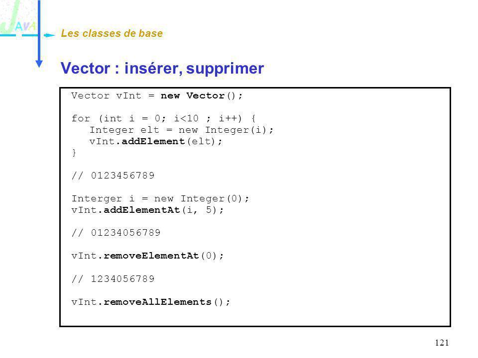 Vector : insérer, supprimer