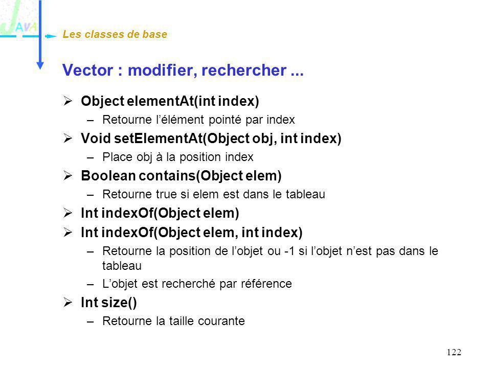 Vector : modifier, rechercher ...