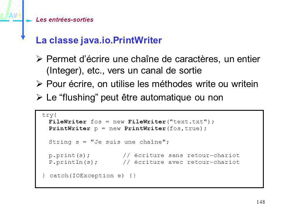 La classe java.io.PrintWriter