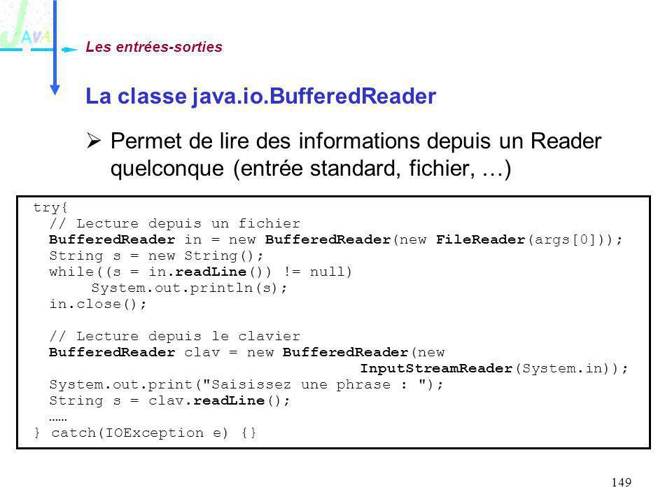 La classe java.io.BufferedReader