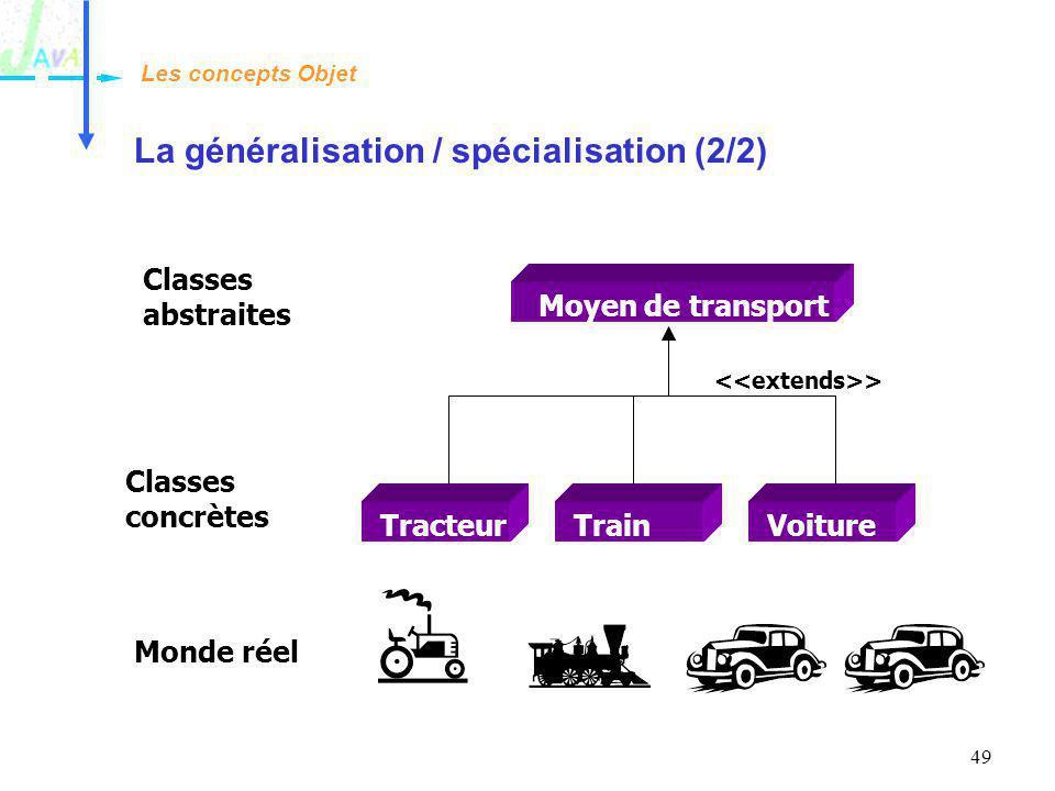 La généralisation / spécialisation (2/2)