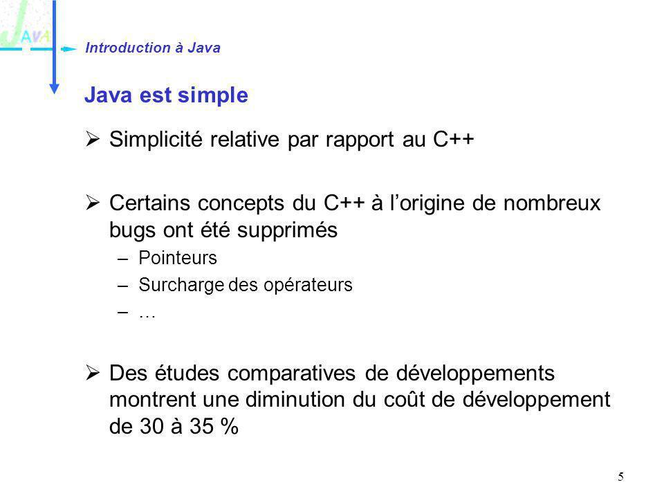 Simplicité relative par rapport au C++