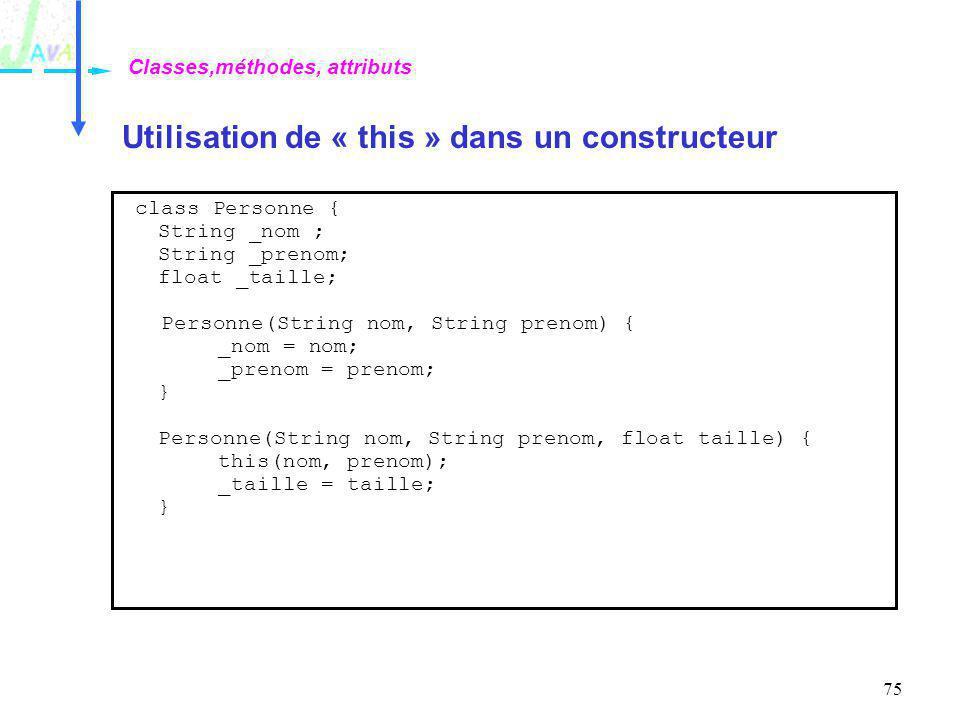 Utilisation de « this » dans un constructeur