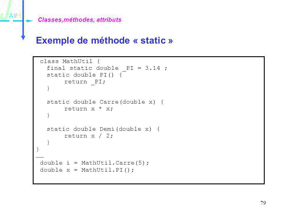 Exemple de méthode « static »