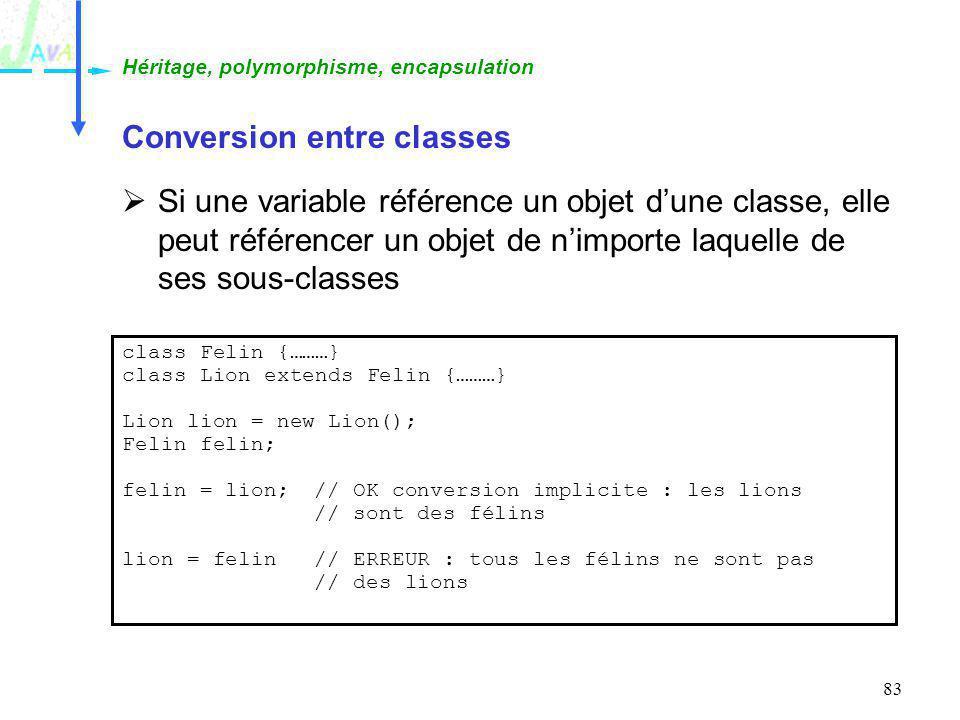 Conversion entre classes