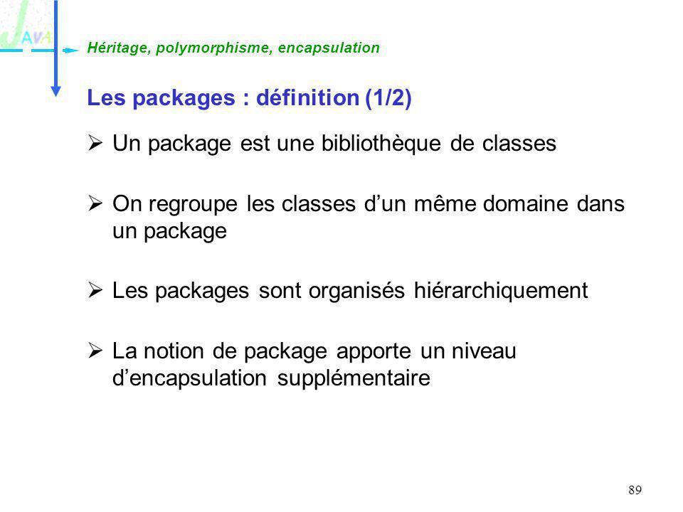 Les packages : définition (1/2)