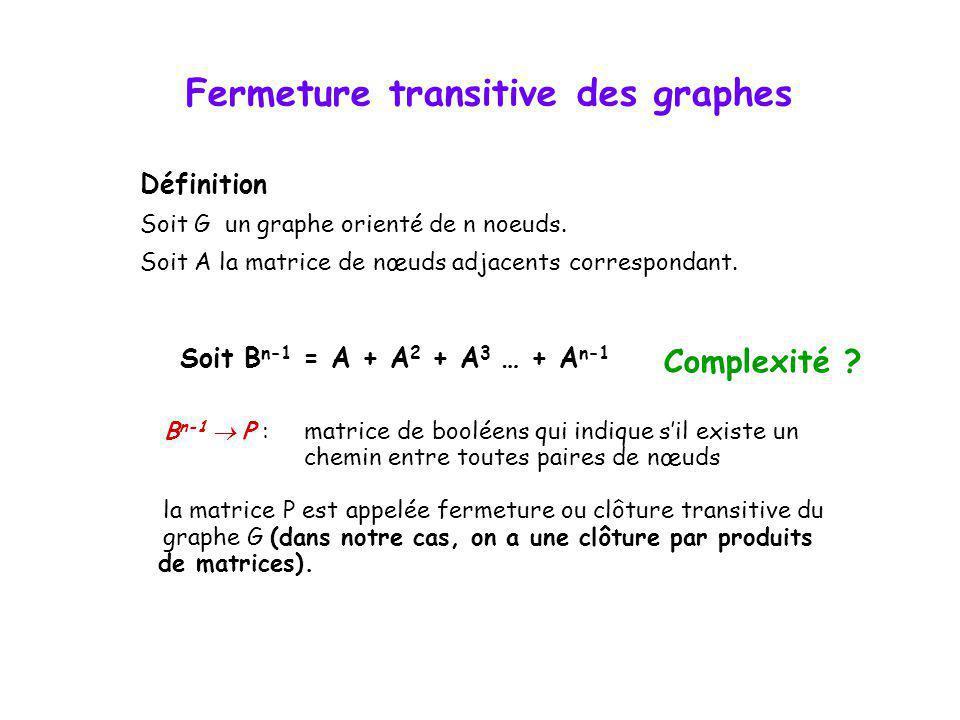 Fermeture transitive des graphes