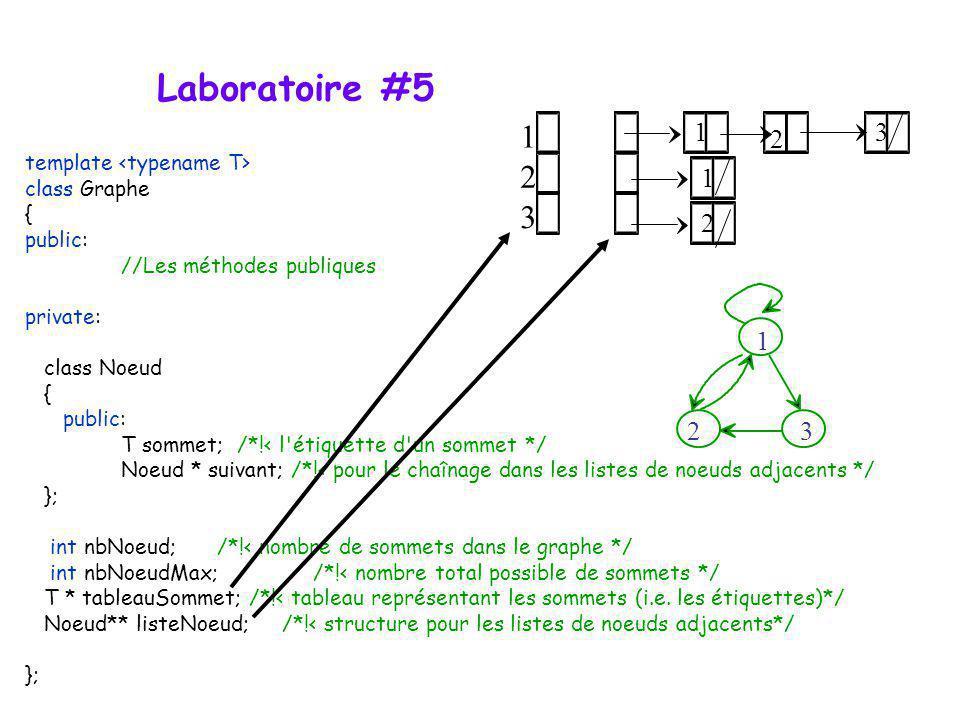 Laboratoire #5 1 2 3 1 3 2 1 2 1 2 3 template <typename T>