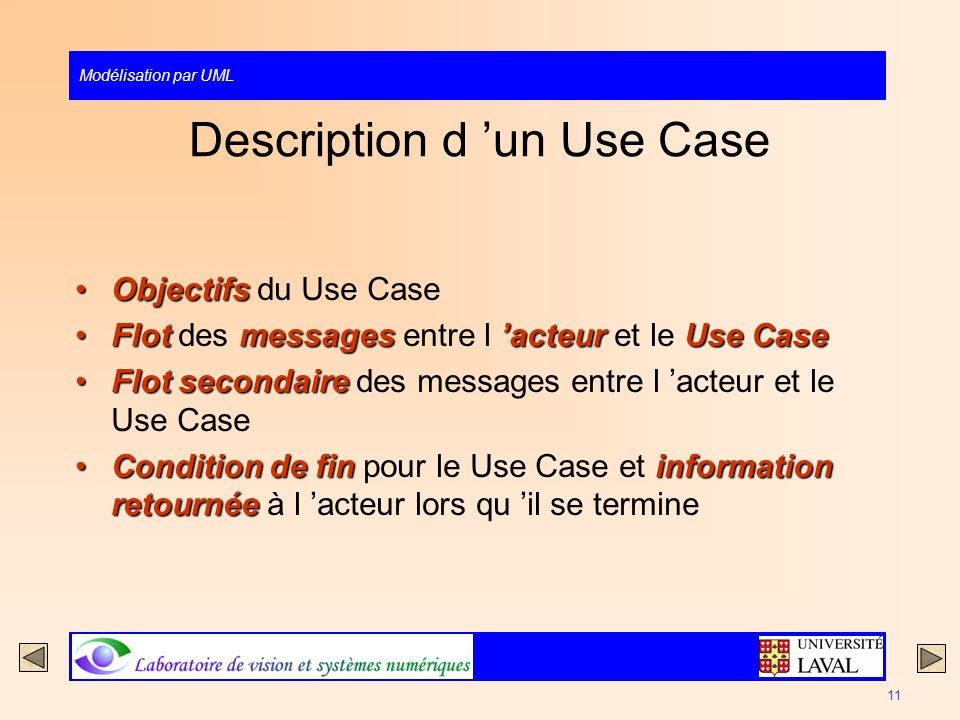 Description d 'un Use Case