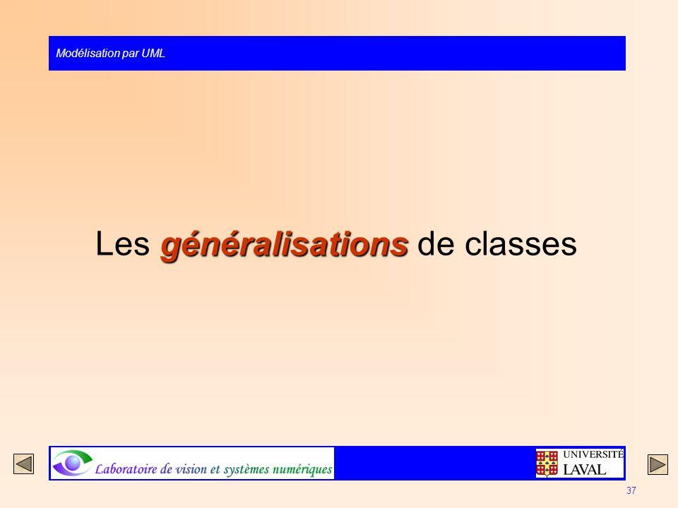 Les généralisations de classes