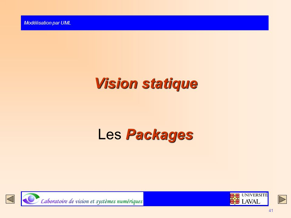 Vision statique Les Packages