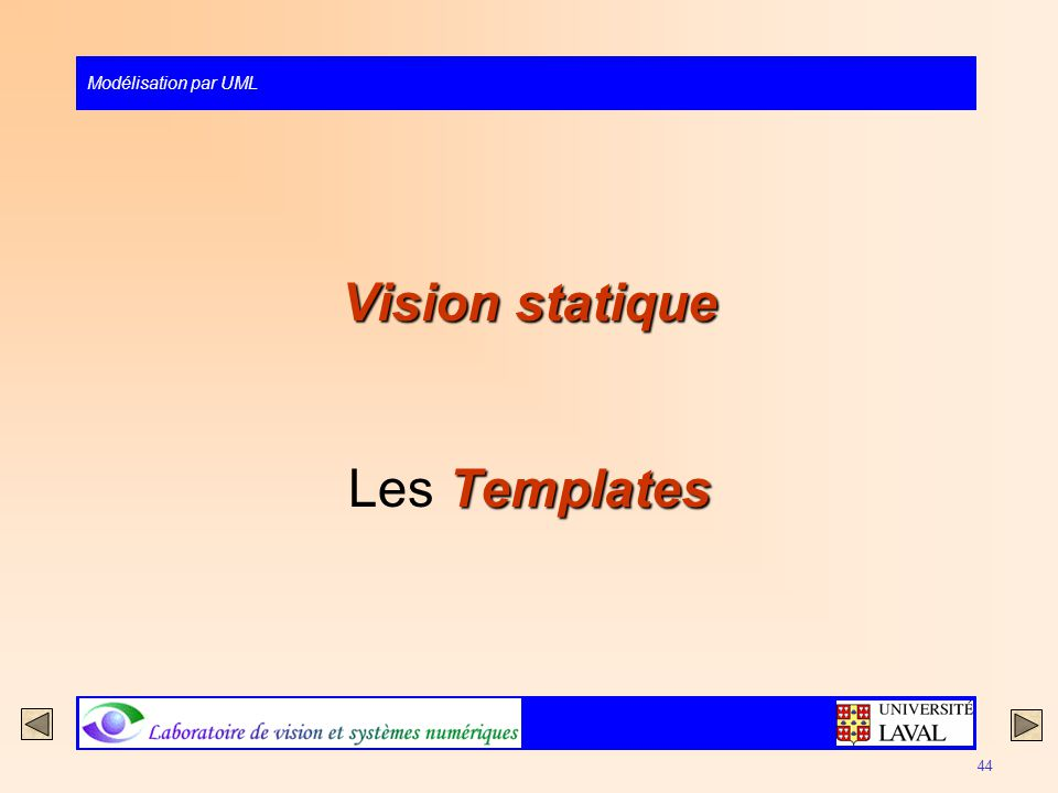 Vision statique Les Templates