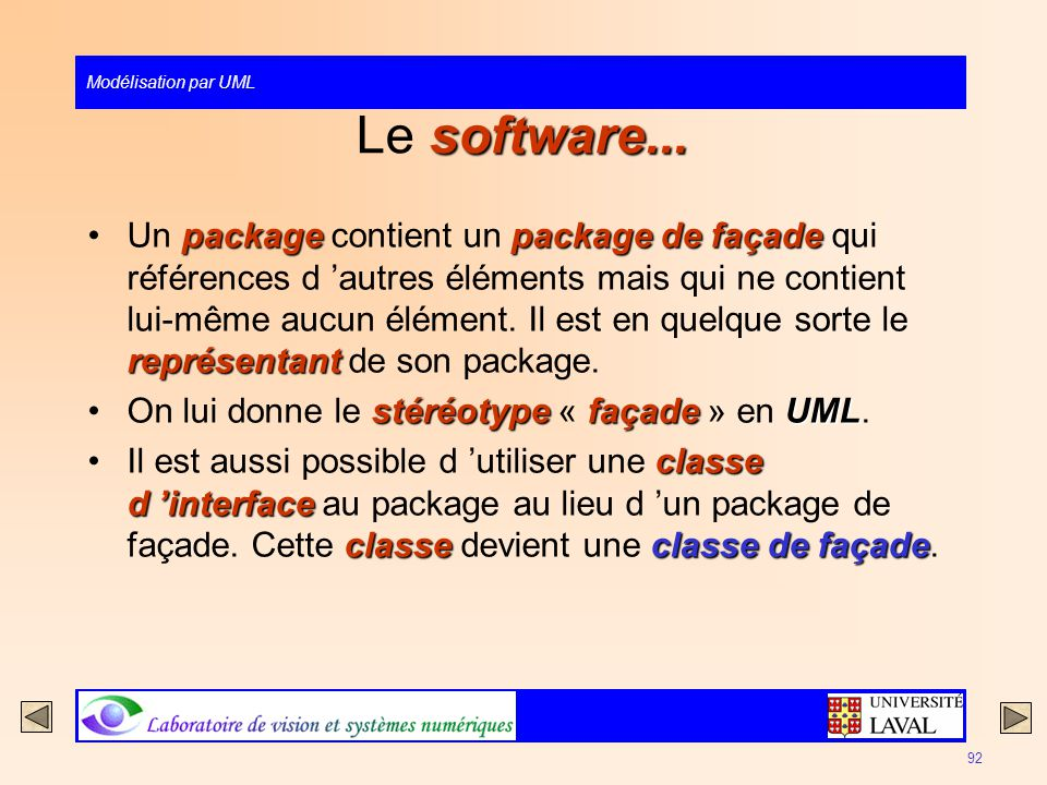 Le software...