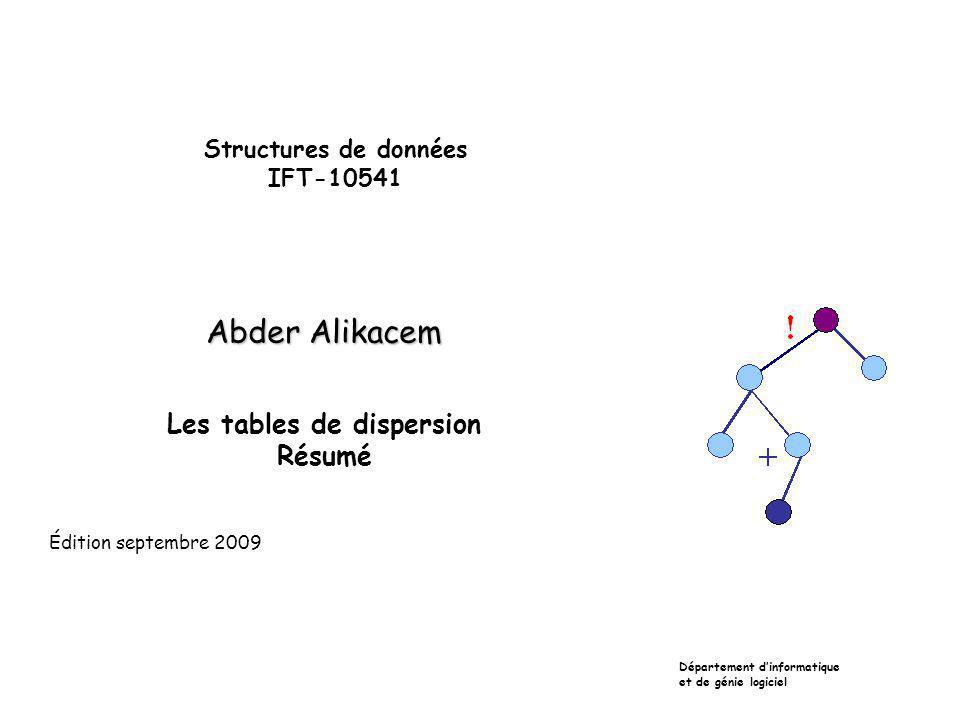 Structures de données IFT-10541