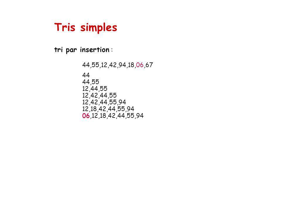 Tris simples