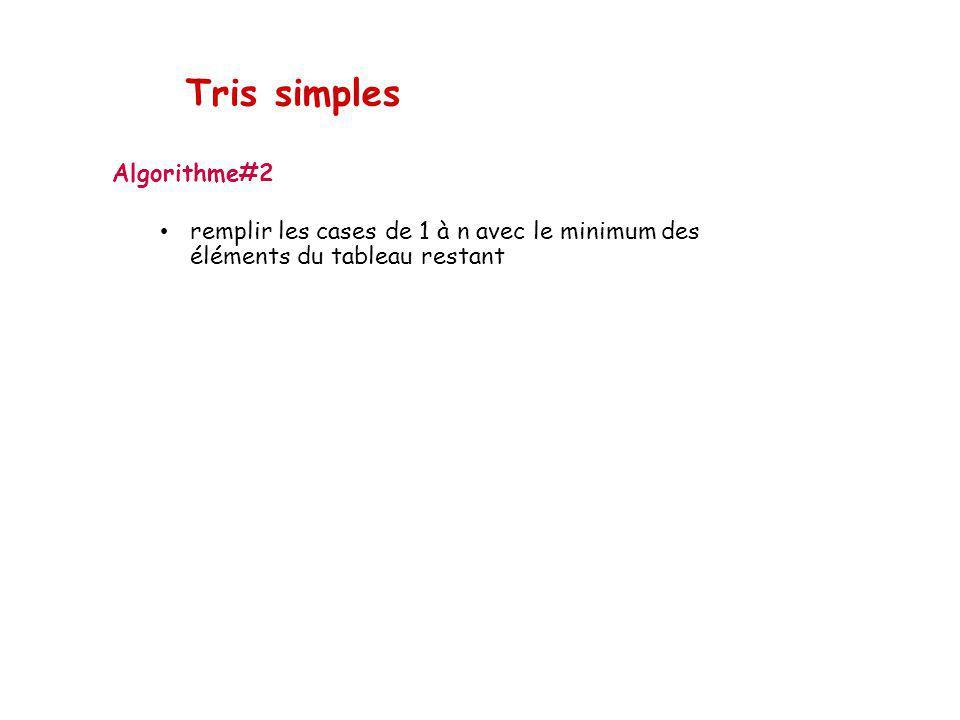 Tris simples Algorithme#2
