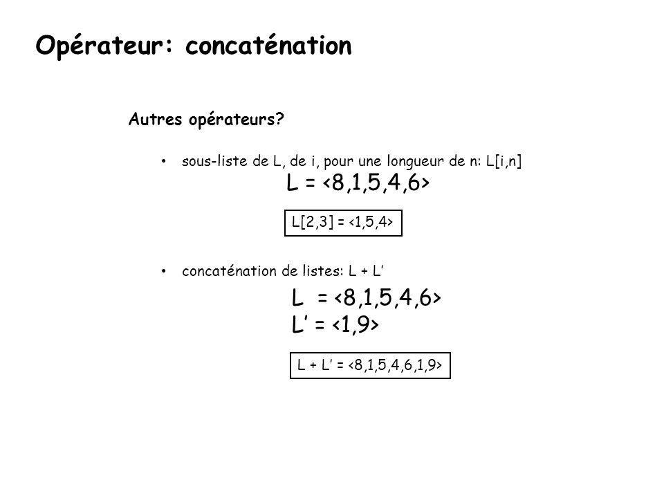 Opérateur: concaténation