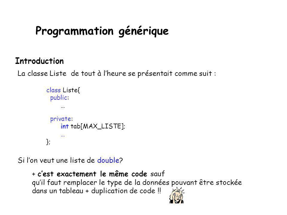 Programmation générique