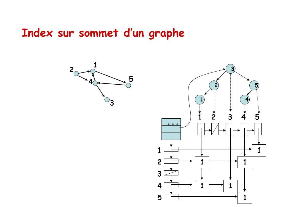 Index sur sommet d'un graphe