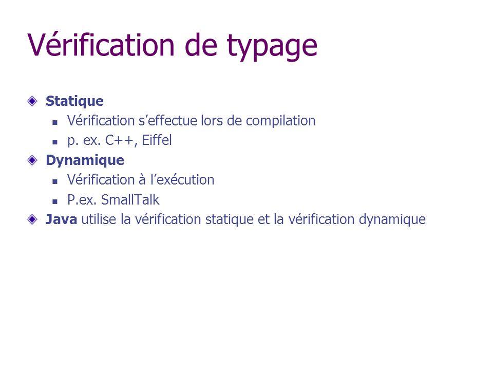 Vérification de typage