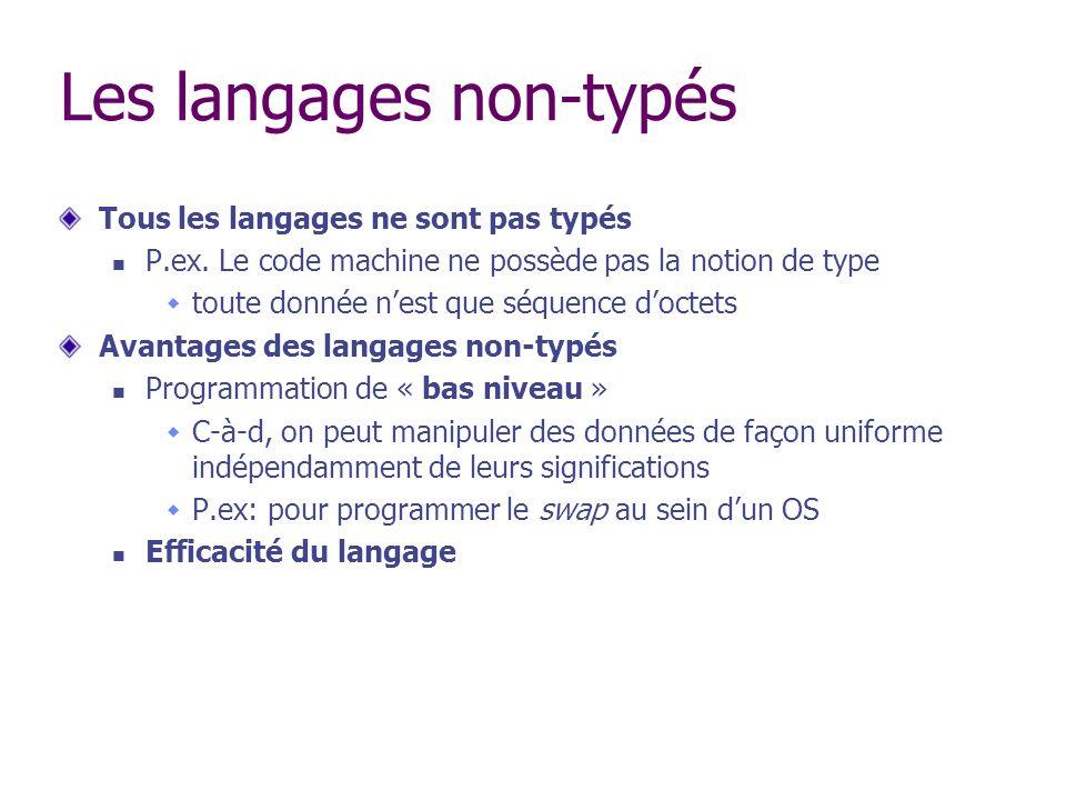 Les langages non-typés