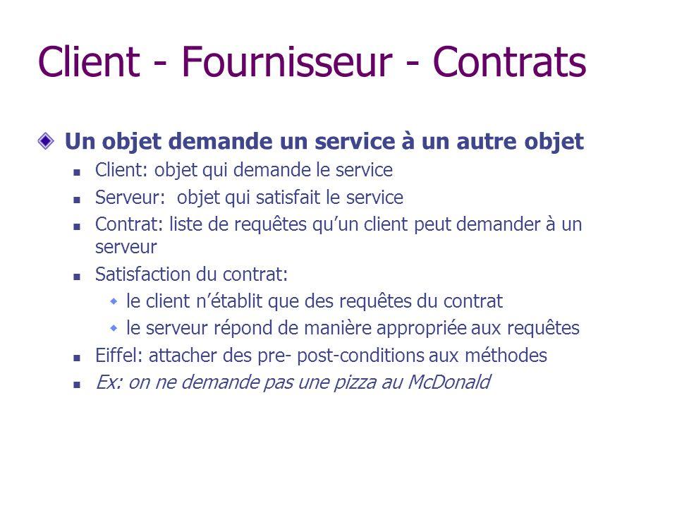 Client - Fournisseur - Contrats