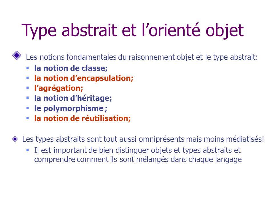 Type abstrait et l'orienté objet