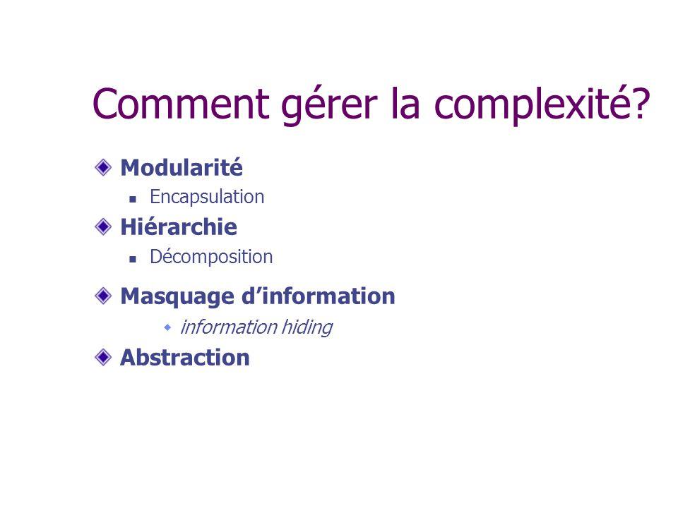 Comment gérer la complexité