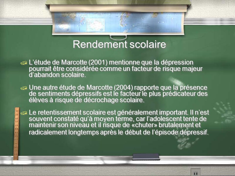 Rendement scolaire