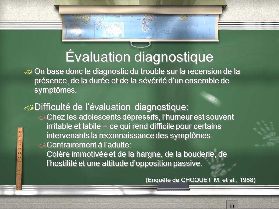 Évaluation diagnostique