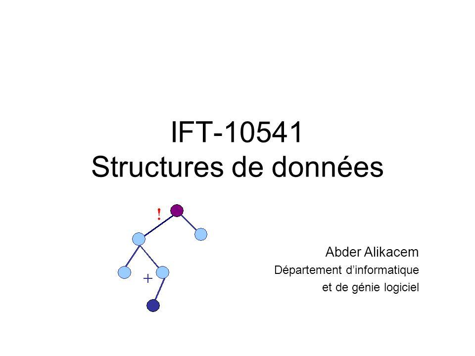 IFT-10541 Structures de données