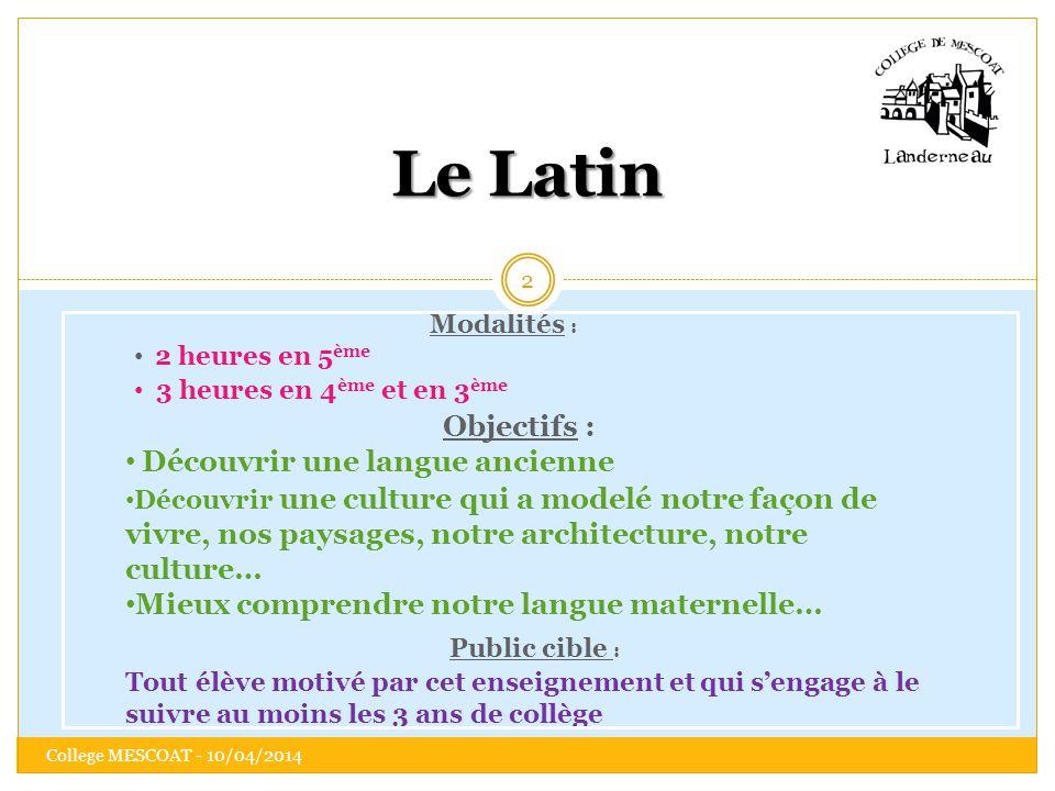 Le Latin Découvrir une langue ancienne